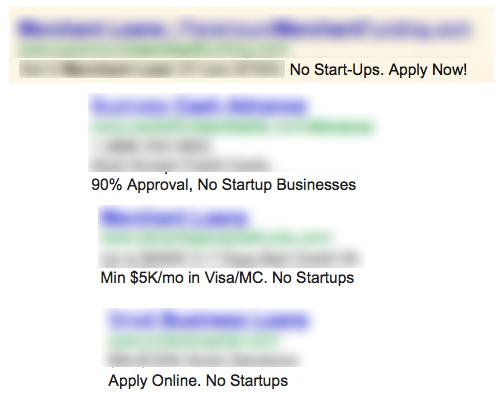 no startup lending