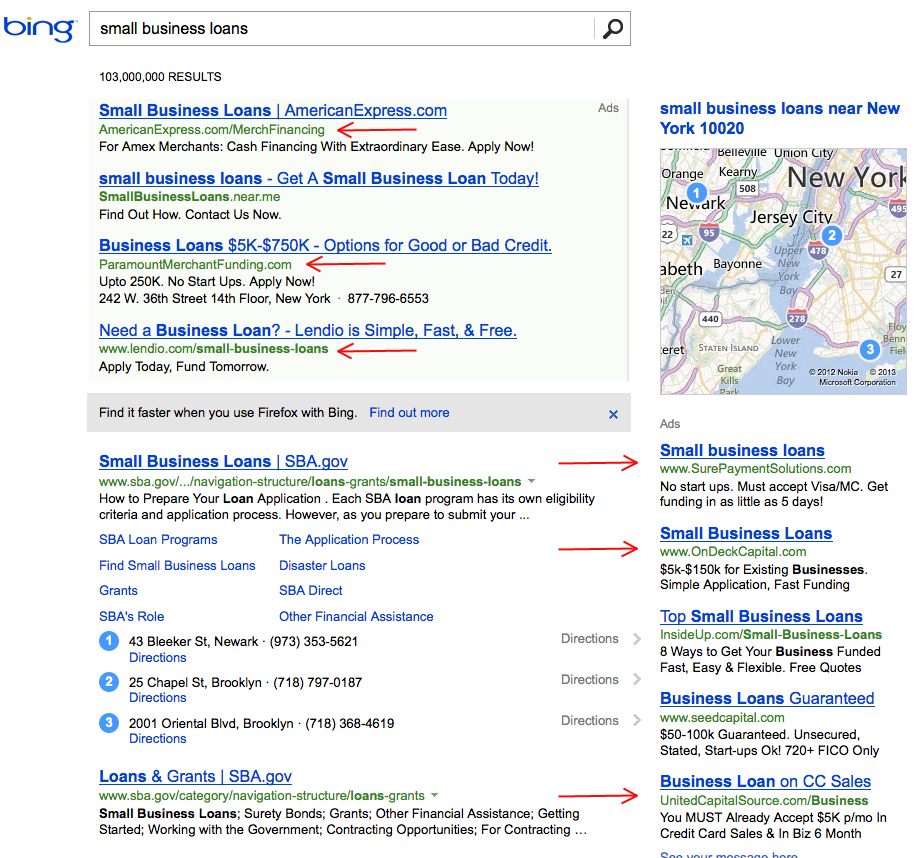 small business loans on bing