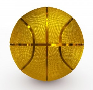 golden basketball