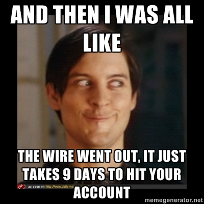 the wire went out