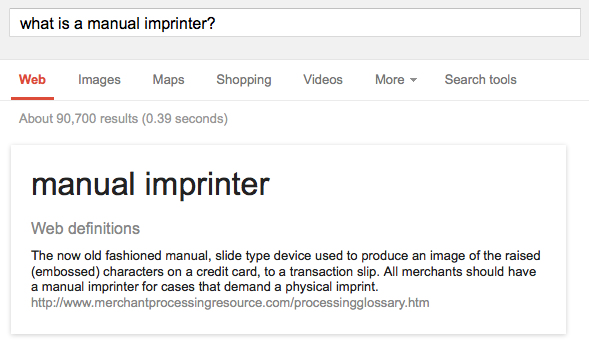 manual imprinter