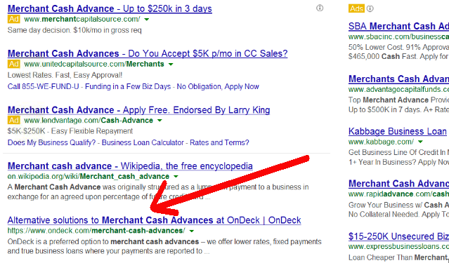 merchant cash advance ondeck capital