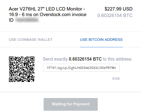 coinbase overstock