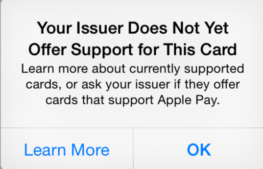 applepay not supported