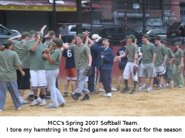 MCC Softball Team