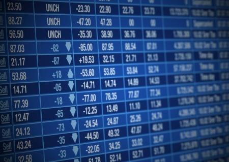 stock prices down