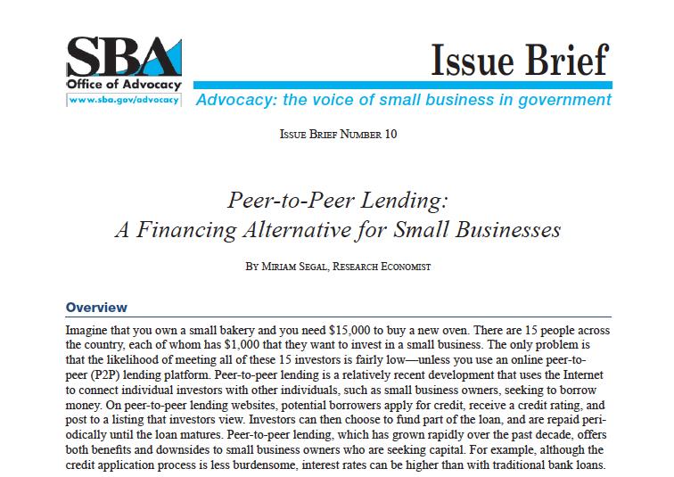 SBA P2P Lending Paper