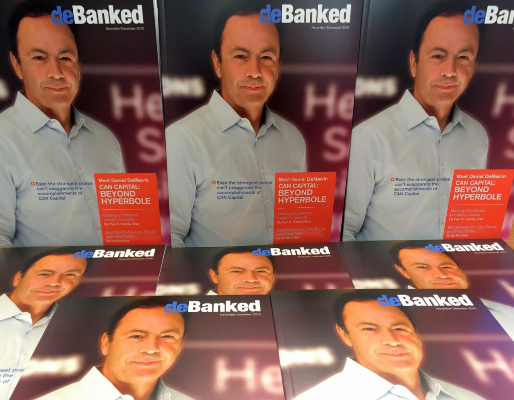 Dan DeMeo CAN Capital deBanked Magazine Cover