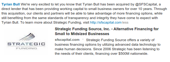 Strategic Funding Source - Tyrian Bull