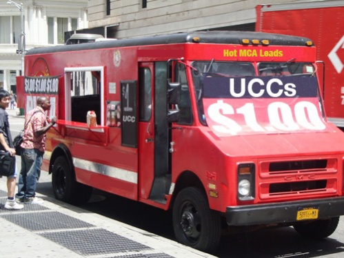 UCC Leads - Truck on Wall Street
