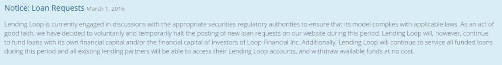 Lending Loop Notice