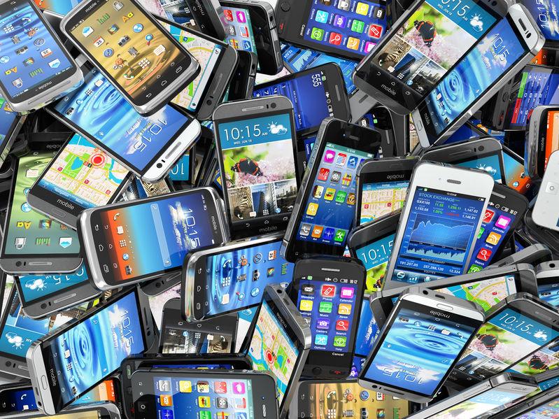 pile of phones