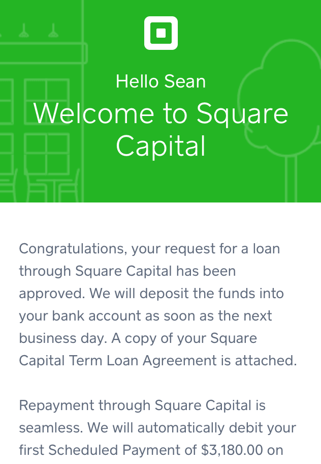 square capital approved