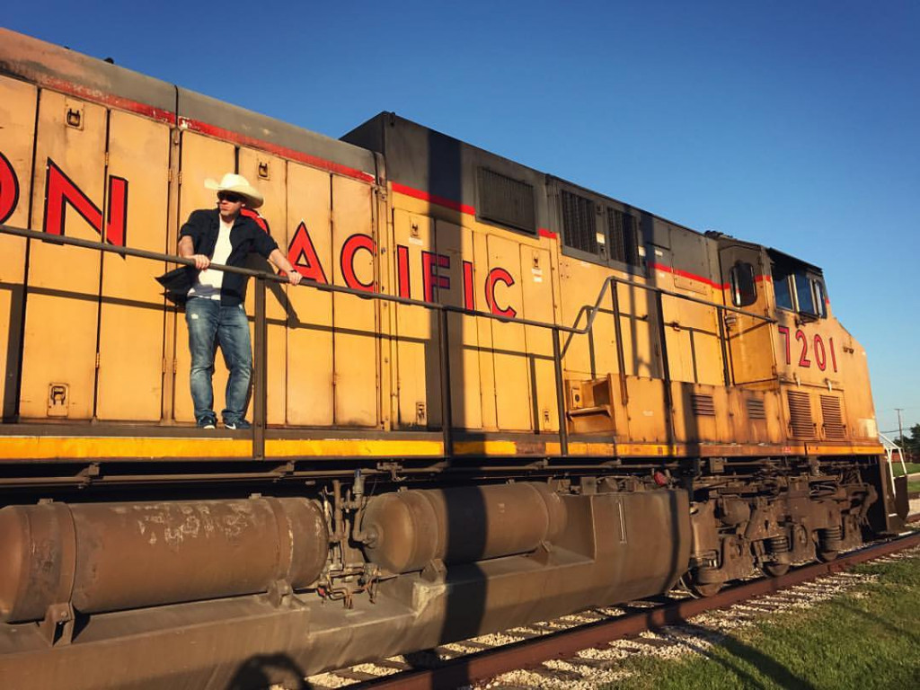 Sean Murray on Union Pacific Train