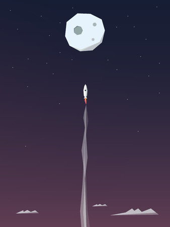 shooting up to the moon
