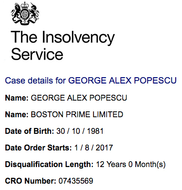 Insolvency Order