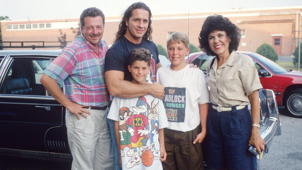 Bret Hart, Paul Pitcher and Family