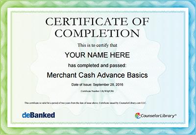 MCA Basics Certificates