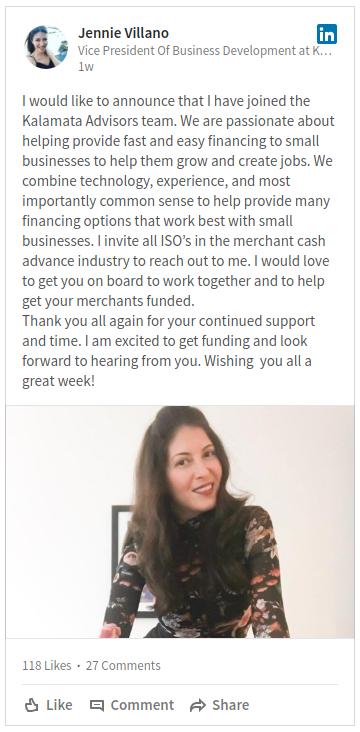 Jennie Villano on LinkedIn