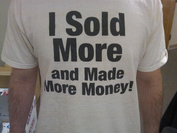 I sold more