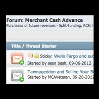 merchant cash advance forum