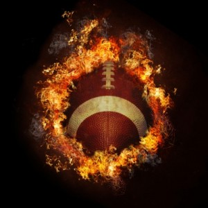 football on fire