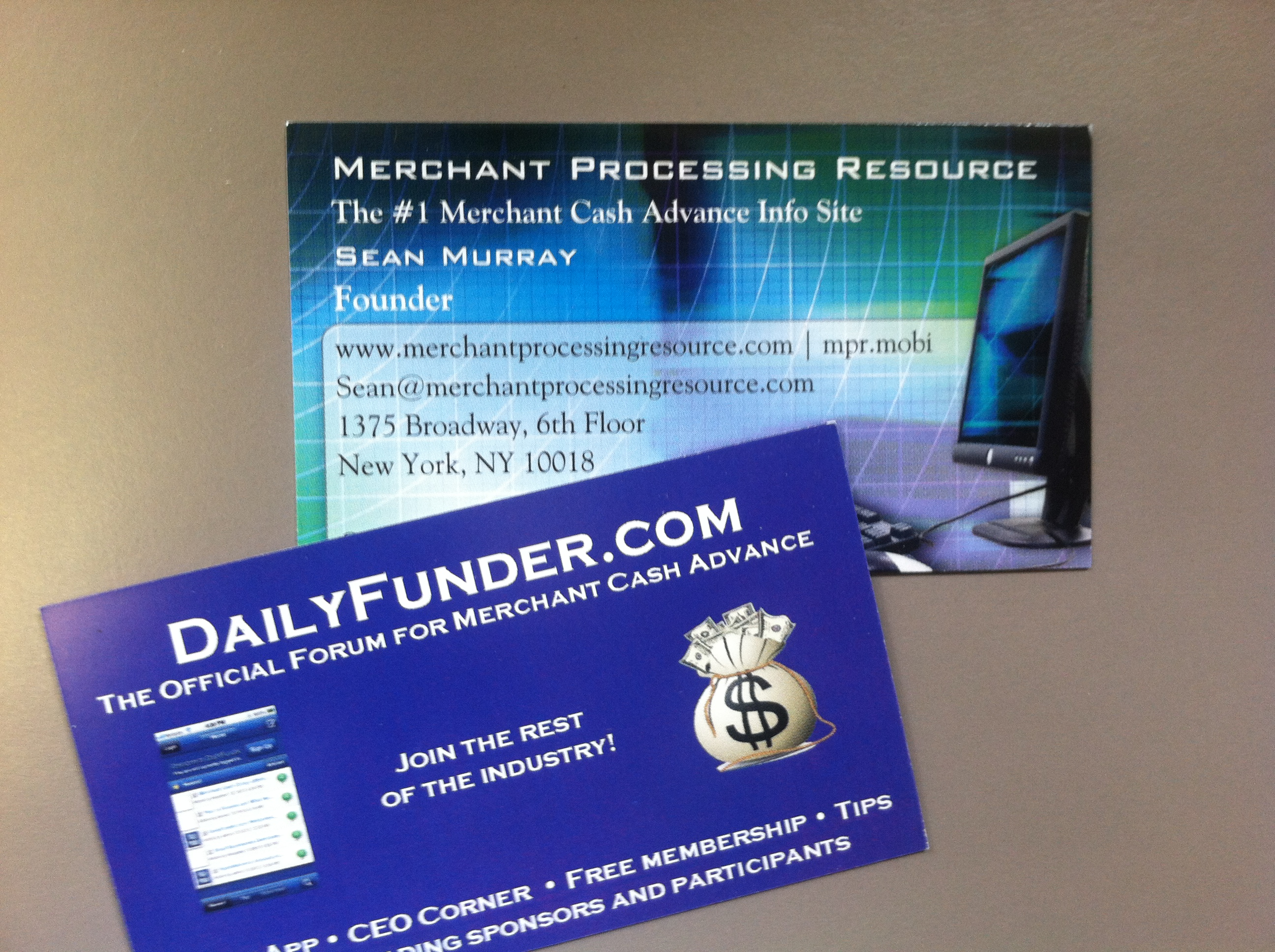 merchant cash advance cards