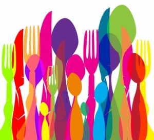 color cutlery