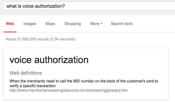 voice authorization