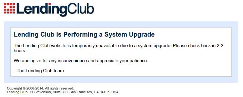 lending club down