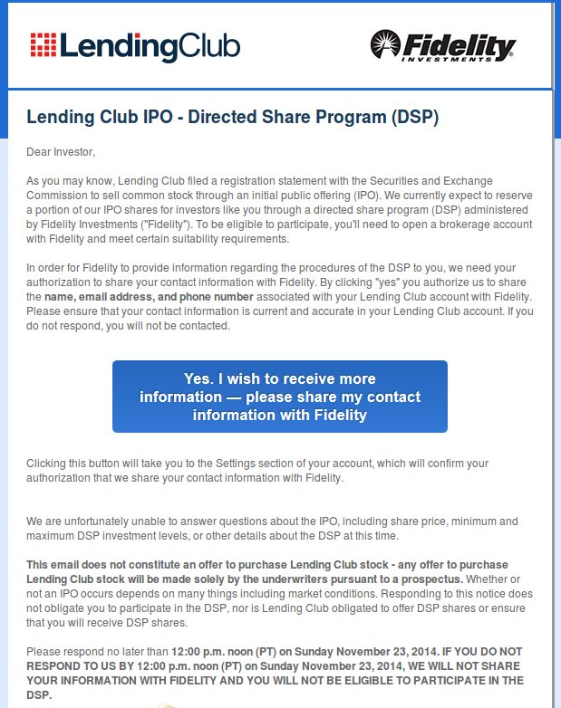 Lending Club IPO