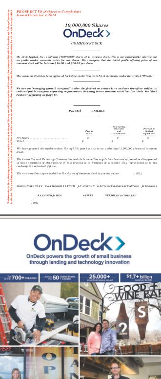 OnDeck Prospectus