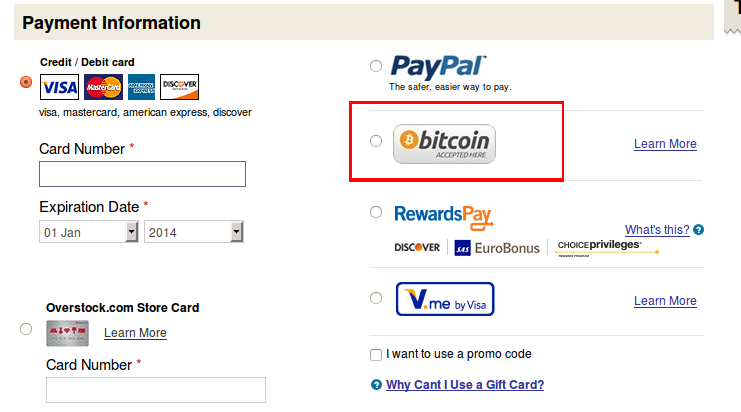 overstock bitcoin checkout