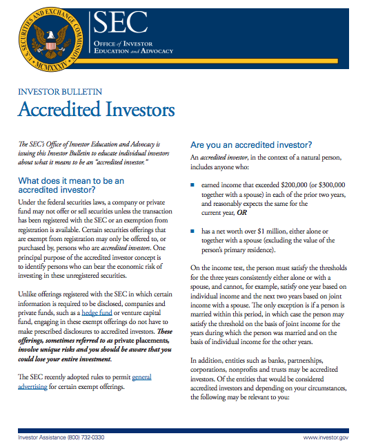 accredit investor guide