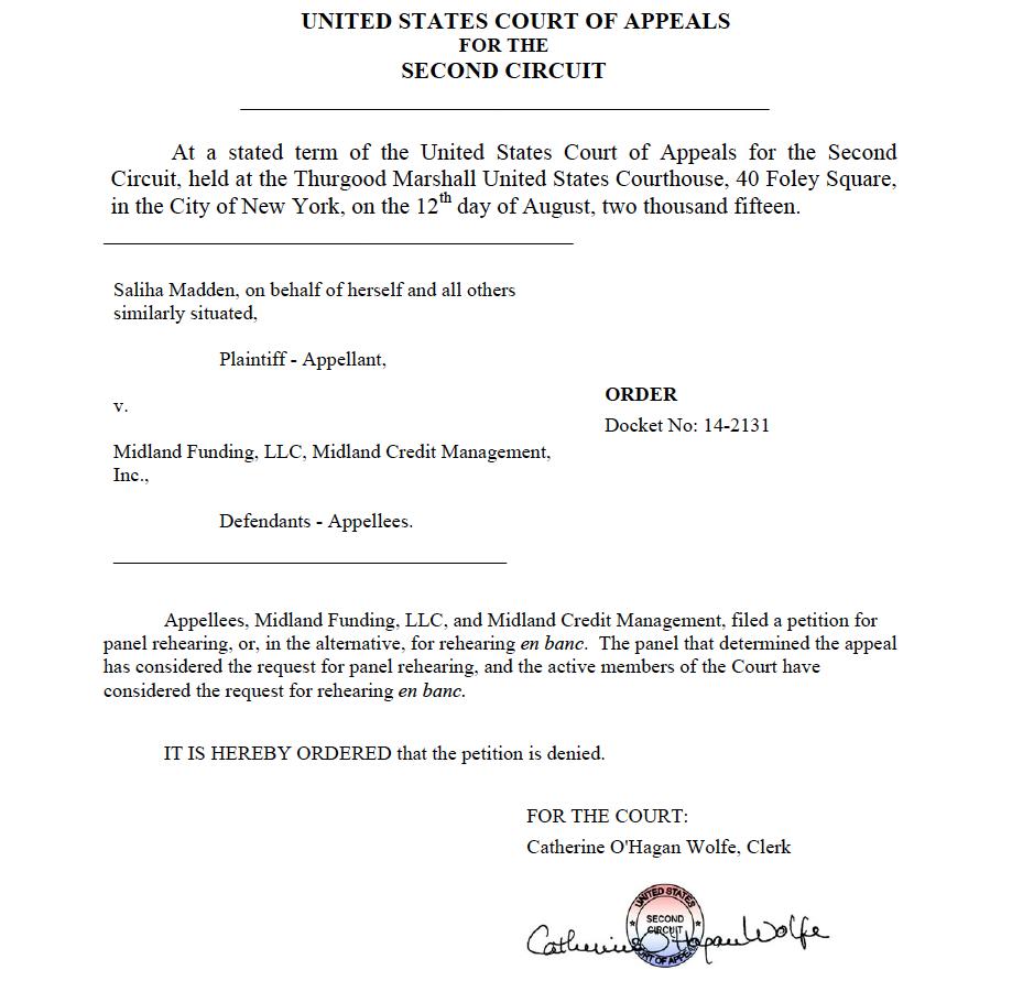 Madden v. Midland appeal denied