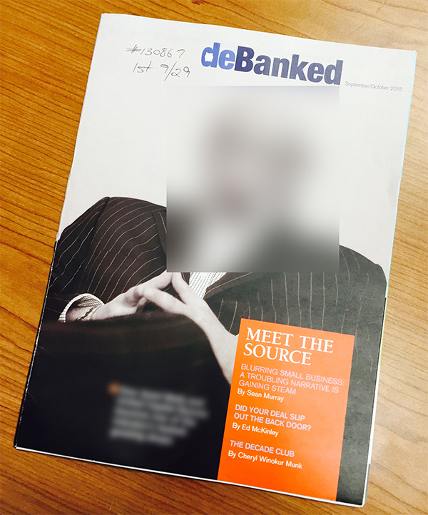 deBanked Magazine Cover Teaser