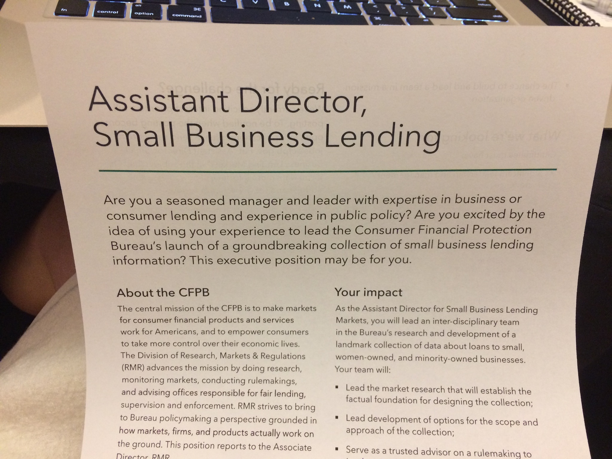 CFPB Small Business Lending