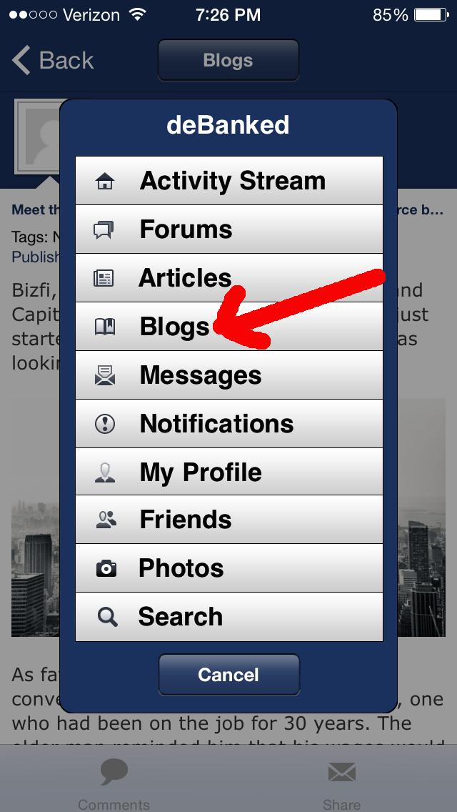 deBanked Mobile Blogs