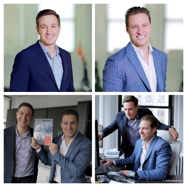 Jared Feldman and Dan Smith of Fora Financial Pose for deBanked Magazine