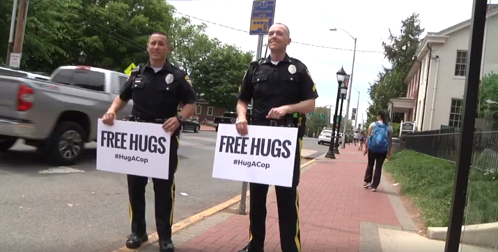 #hugacop James Spadola at right