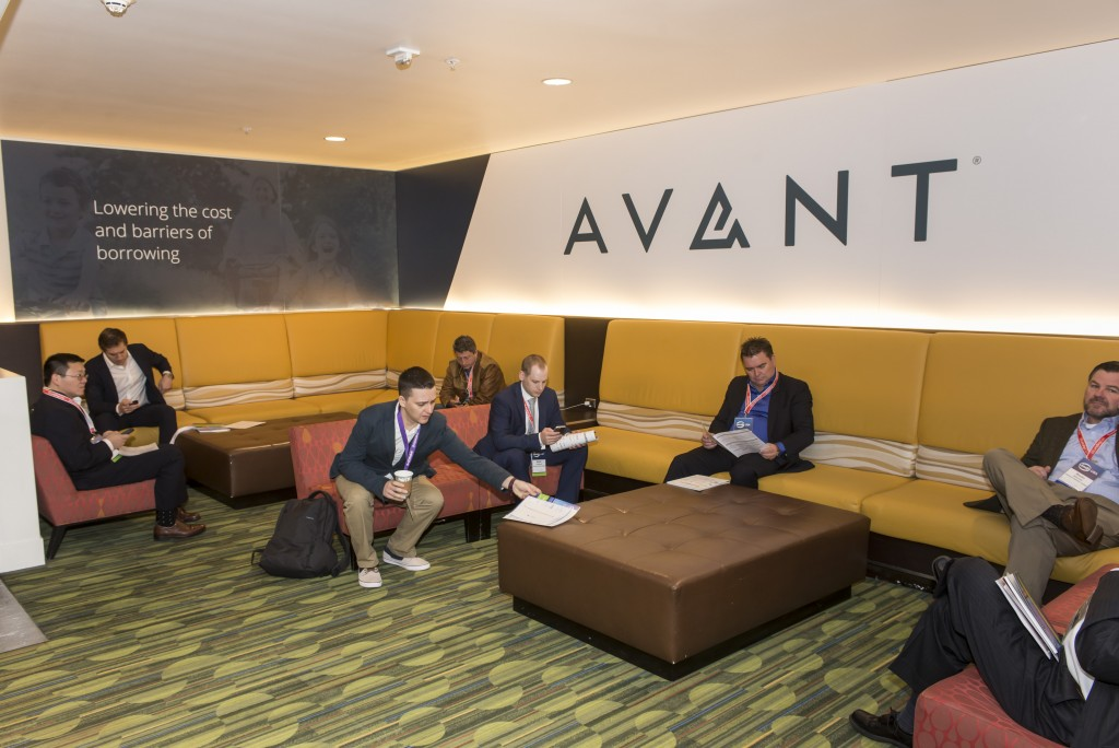 Avant lounge in Mission Street tunnel at the LendIt USA 2016 conference in San Francisco, California, USA on April 11, 2016. (photo by Gabe Palacio)