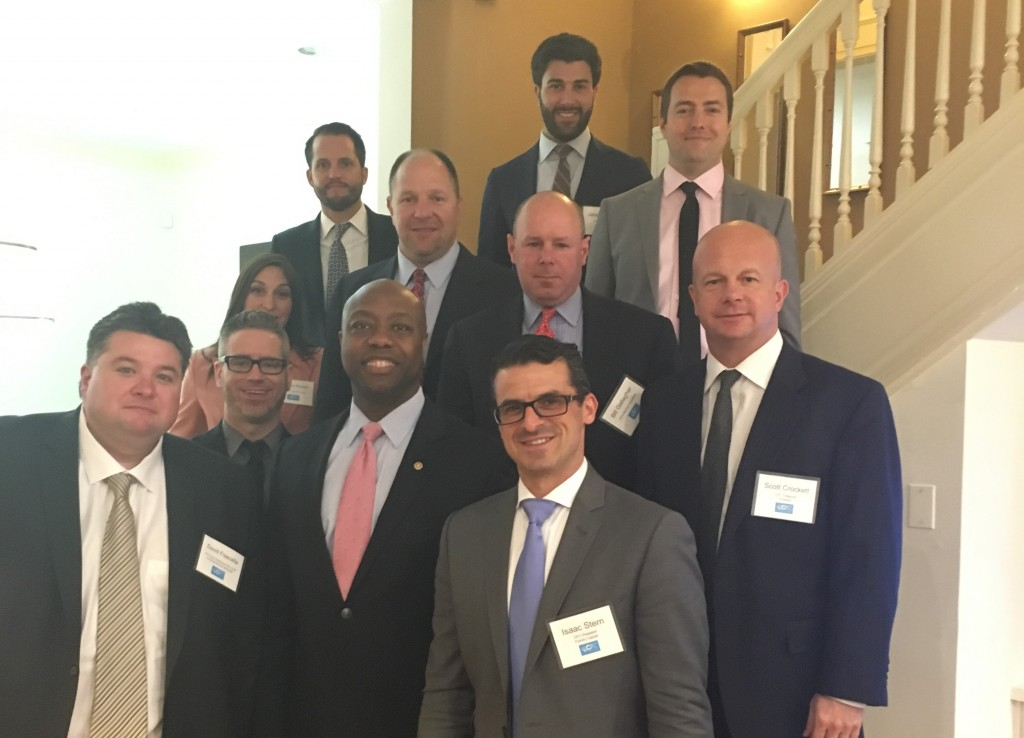 Senator Tim Scott with the Commercial Finance Coalition