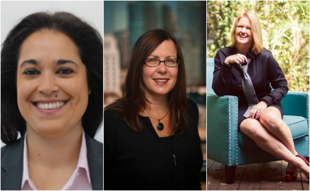 L-R: Danielle Rivelli, Kathryn Petralia, Heather Francis