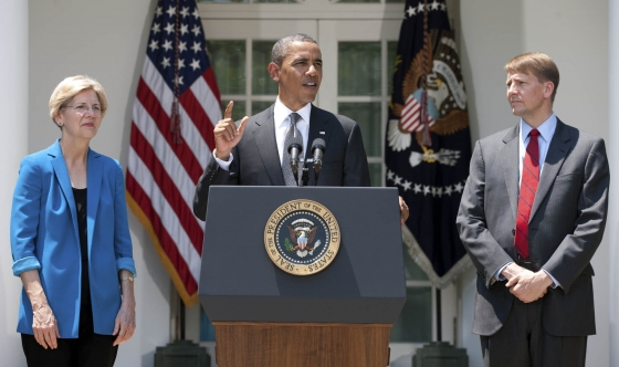 Senator Warren, President Obama, and CFPB Director Cordray