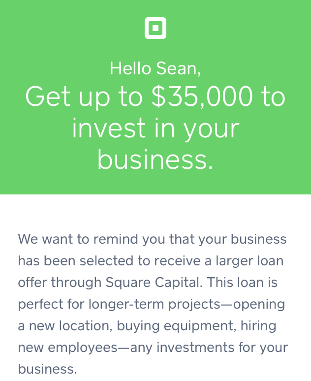 Square Capital Offer