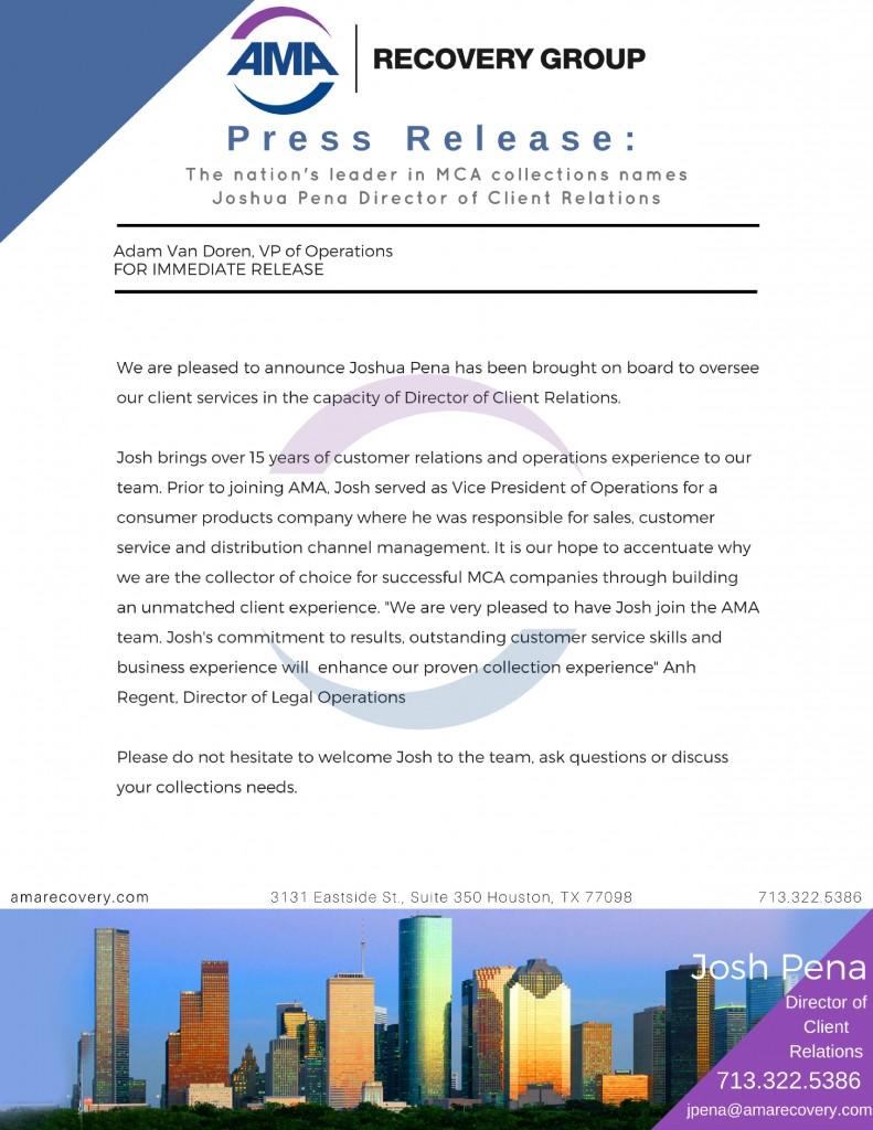 AMA Press Release