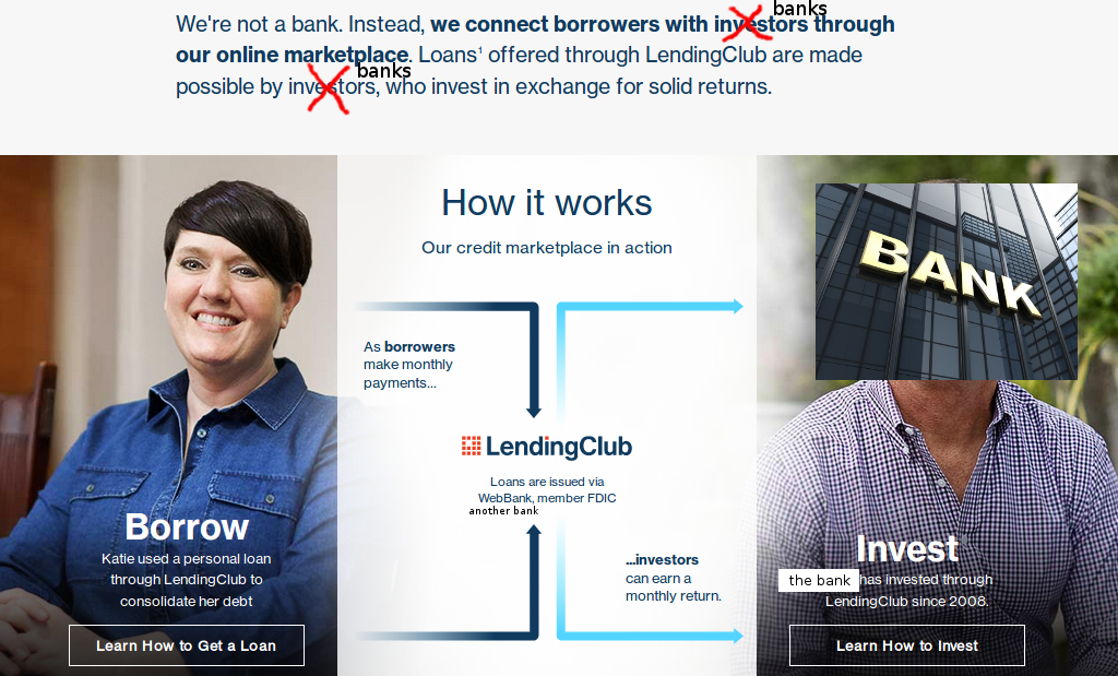 bank funding through Lending Club