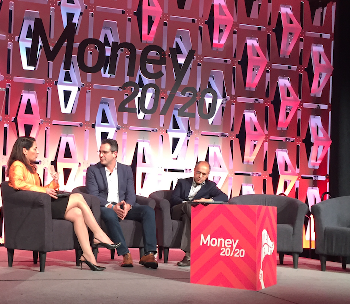 Noah Breslow CEO OnDeck (center) at Money2020
