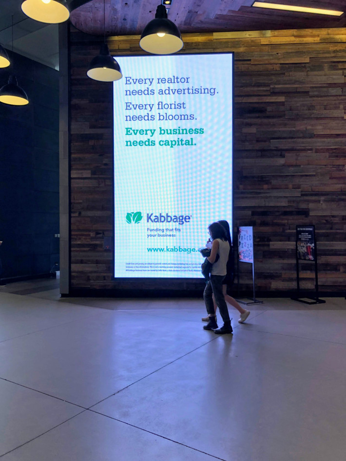 kabbage ad in City Point Mall