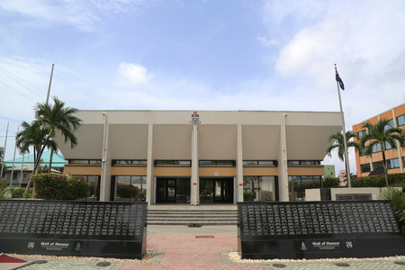 cayman islands court house at george town